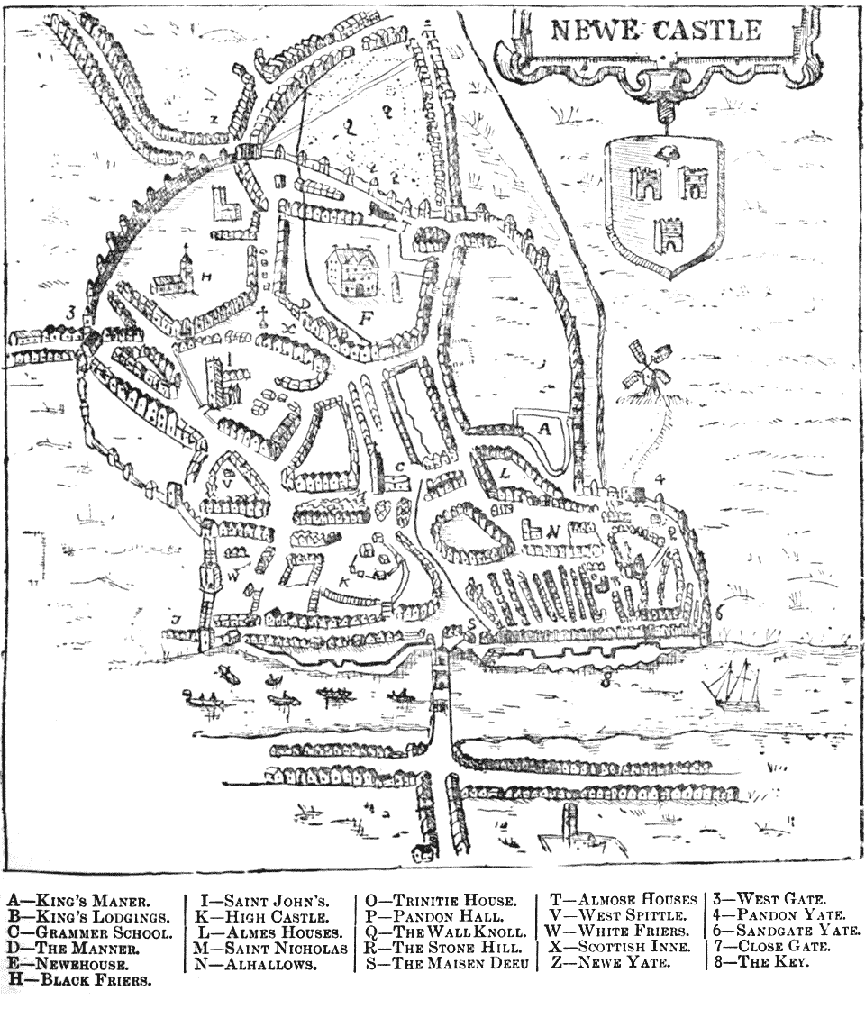 Map of Newcastle by John Speed